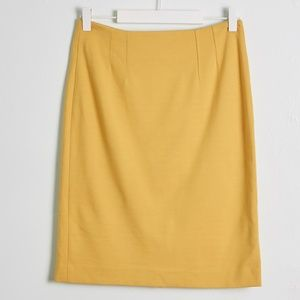 Halogen Mustard Yellow Pencil Skirt